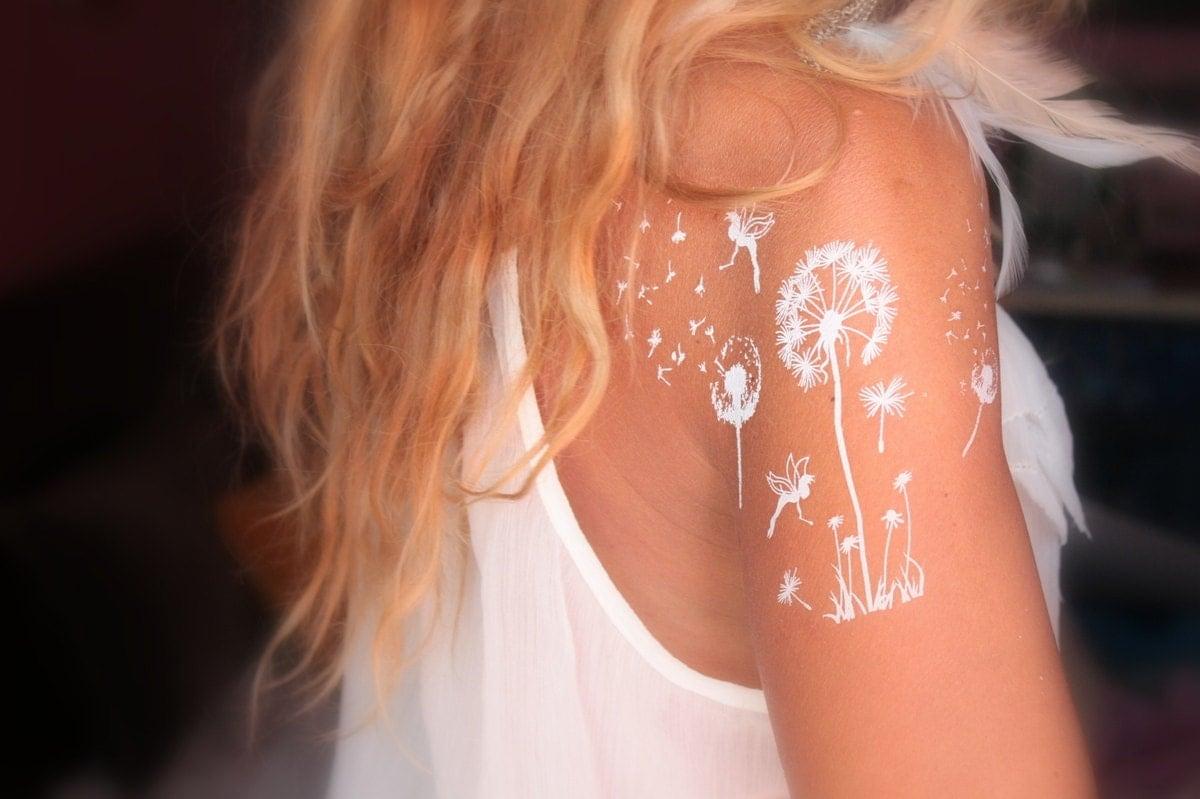 4 Sheets White Henna Temporary Tattoo / White Henna Tattoo