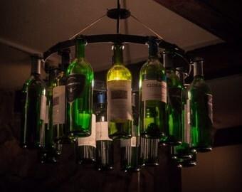 Wunderbar Wein Flasche Kronleuchter Wine Rack Licht Beleuchtung Wein  Dekor Anhänger Stil