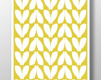 Yellow Art, Yellow Nursery Art, Yellow Wall Decor,  Yellow Wall Art, Nursery Art Boy, Nursery Art Print, Abstract Print, Modern Nursery Art