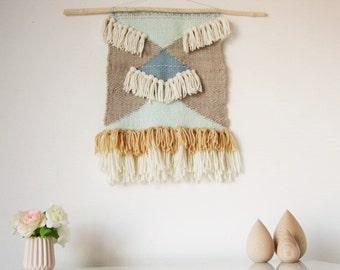 Tissage laine p ruvienne couleurs nude cr me tapisserie for Decoration murale zimbabwe