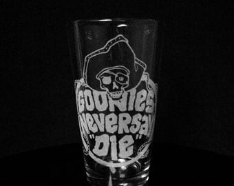 Goonies Never Say Die Pint Glass