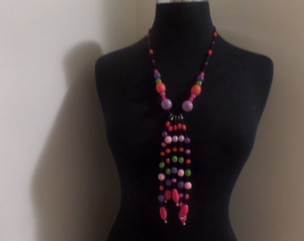 funky bead necklace
