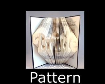 Bride Wedding  Bookfold Pattern, Book art, Origami Pattern