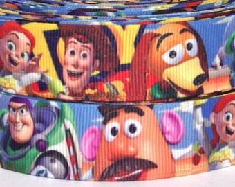 "Toy Story 7/8"" Grosgrain Ribbon - Toy Story Ribbon - 3 yards Toy Story Grosgrain Ribbon - 22 mm Toy Story Ribbon"