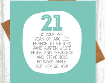 21st Birthday Card - Funny Card - PP50