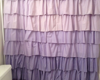 ... Purple Curtains Ruffle : Purple Ruffle Shower Curtain ...