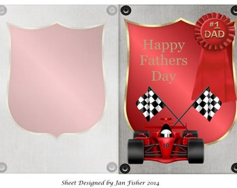 Fathers day card in red (download)