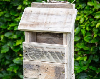 Rustic Bird House/Bird Box made from reclaimed Pallet Wood