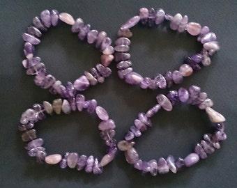 Amethyst Crystal Stretch Bracelet