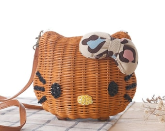 Hello Kitty Rattan Handbags [Small]