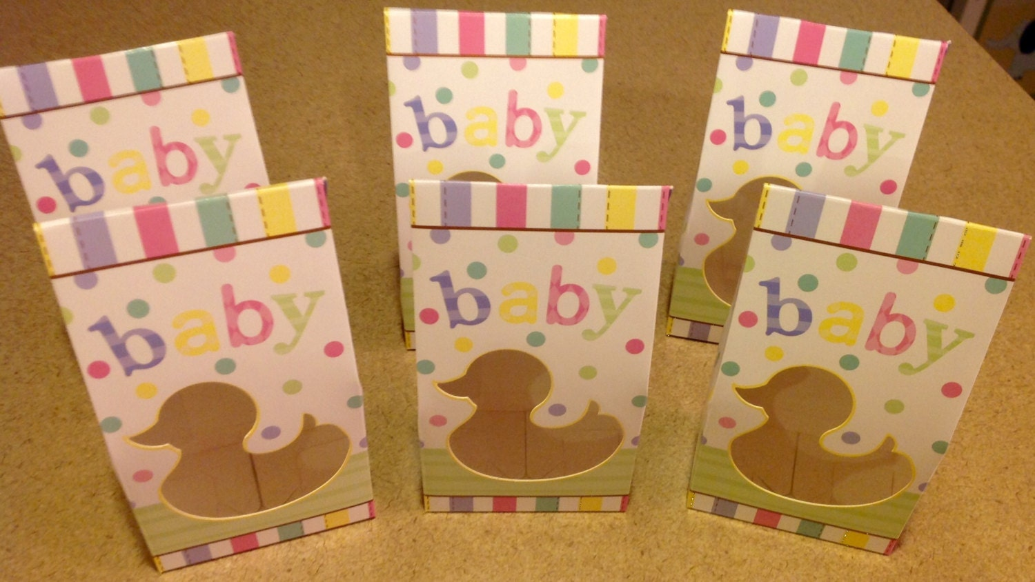 baby shower duck party favor bags treat bags by mcssweetboutique