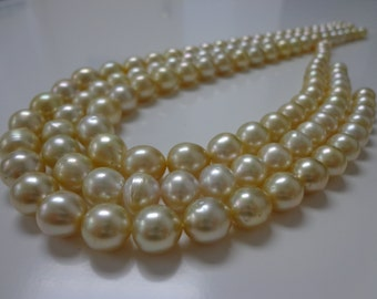 7-10mm Medium Golden South Sea Pearl Necklace