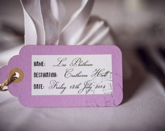 Wedding name place card, luggage label, wedding stationery