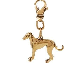 Grayhound 3D Dog Key Chain in Bronze. FD-24 -16.
