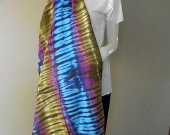 Hand Dyed Scarf, Women Shawl, Wrap Scarf , Tie dye Cotton Scarf Accessories (21)