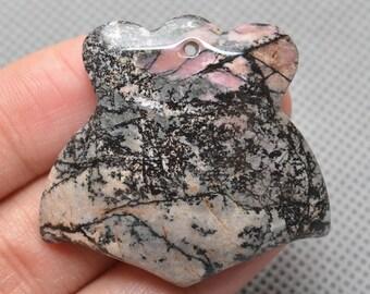 Unique Natural Rhodonite  pendant bead(#J741)