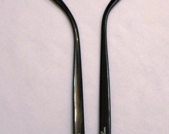 Vintage Pair B&L Ray-Ban Cats W1513, Replacement Temples Shiny Black, 146mm