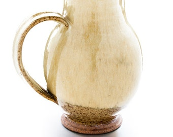 PITCHER. CERAMIC POTTERY. Clay Pottery. Hand Made Pitcher.