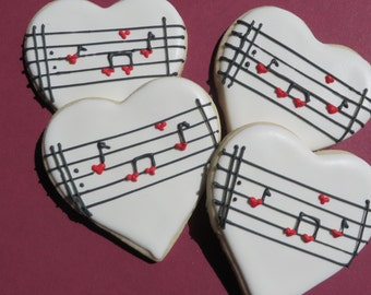 Music Note sugar cookies