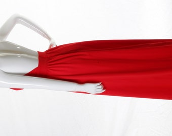 FREE US SHIPPING Vintage Mod Knit Halter Maxi Dress