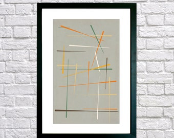 Framed print - Mid Century Modern, Abstract art, Minimalist art, Printable art, Geometric art, Scandinavian art, Modernist art, Home decor