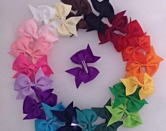 10 Baby Bow Hair Clips-