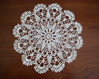 Ecru French lace doily