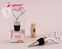 Personalized Wedding Favor - Heart Shaped Wine Stopper - Wedding Favor - Personalized Party Favors - Wedding Favour - Wedding Wine Stopper