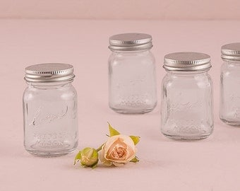 Set of 6 Mini Mason Jar Wedding Favors - Wedding Bridal Shower Favor - Party Favors - Personalized Mason Jar Favors - Bridal Party Favors