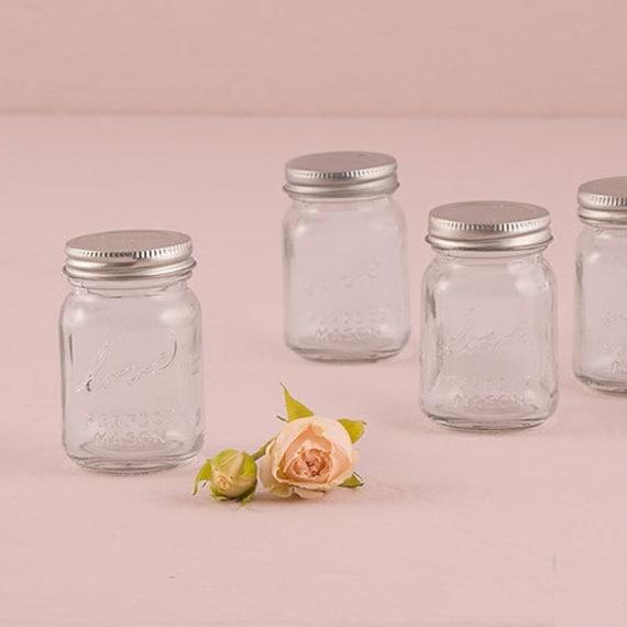 Set Of 6 Mini Mason Jar Wedding Favors Wedding Bridal Shower