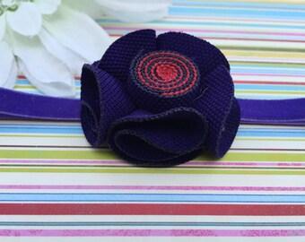 Baby Headband, Purple Headband, Elastic Headband