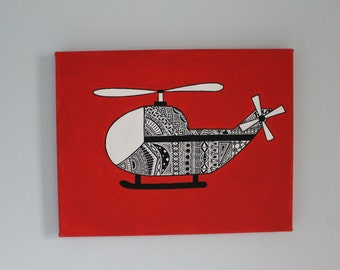 Patterned Helicopter