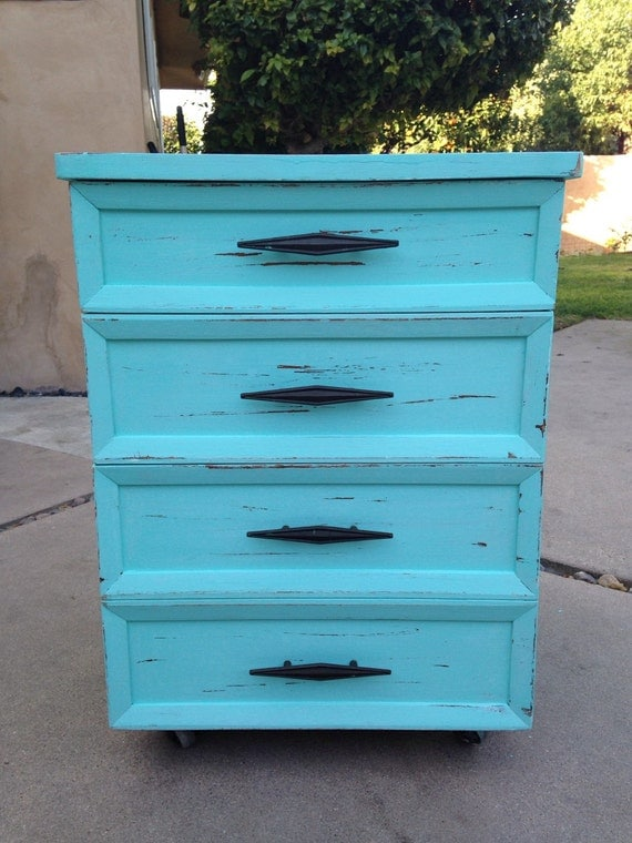 shabby chic aqua blue cabinet nightstand furniture ask. Black Bedroom Furniture Sets. Home Design Ideas