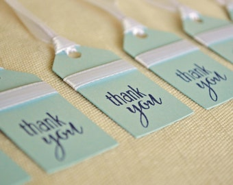 Thank You Tags - Blue Favor Tags - Baby Shower Favor Tags - Thank You Tags for Bridal Shower - Blue Thank You Tags - Wedding Thank You Tags