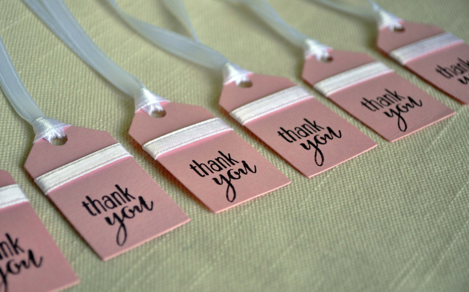 Pink favor tags wedding favor tags baby shower favor tags for Shower favor tag