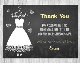 Bridal shower thank you cards – Etsy