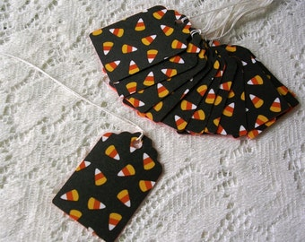 Halloween Tags - Candy Corn Gift Tags - Set of 12 Halloween Favor Tags - Halloween Decorations