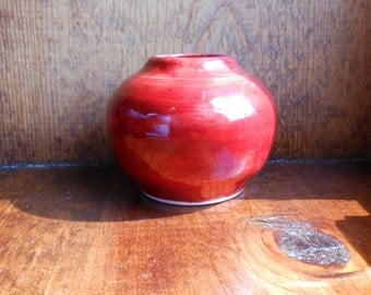Small Bud Vase in Marsala