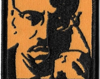 Malcolm X Embroidered Patch / Iron On Applique, Artwork by Dave Cherry, Civil Rights, Equality, Black History