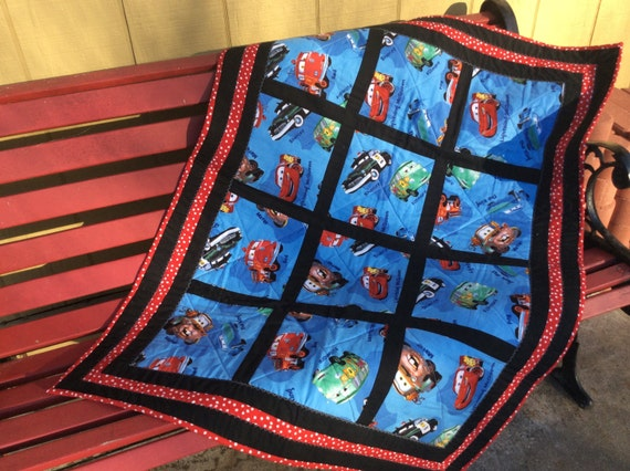 Items Similar To Modern Baby Quilt Disney Cars Movie
