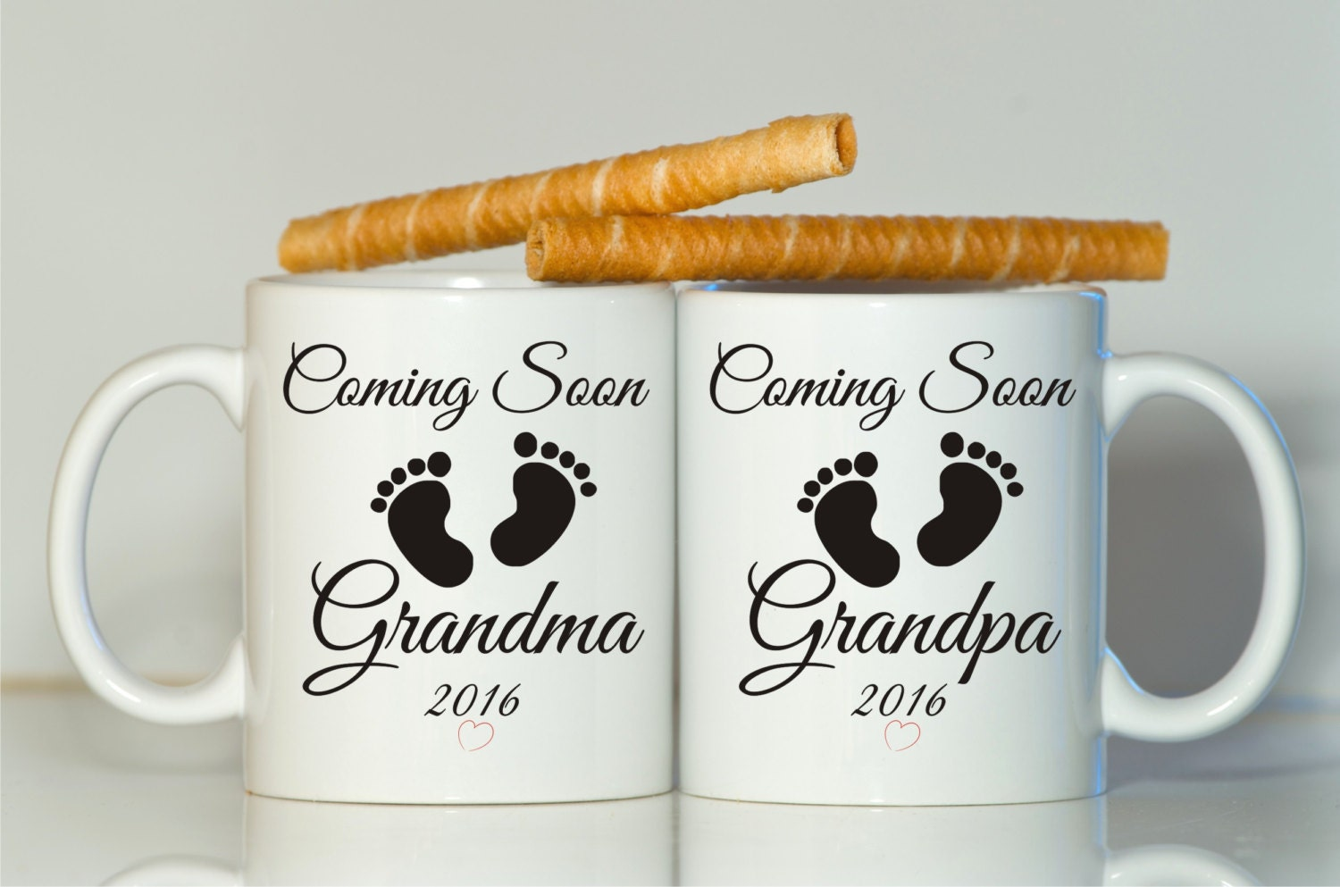 Pregnancy mug – Baby Announcement for Grandparents