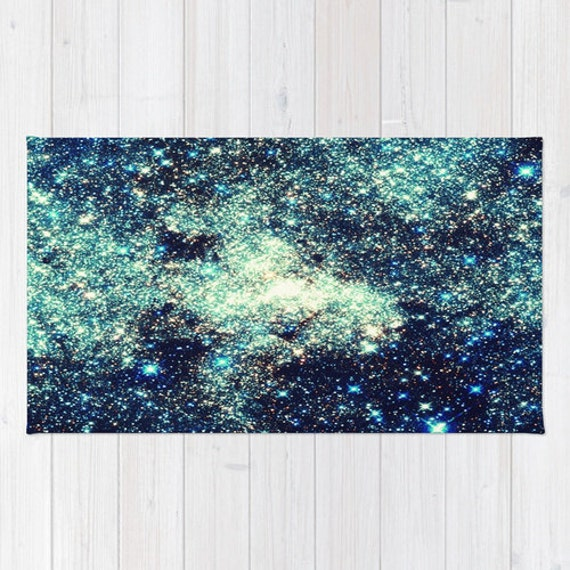 Area Rug Teal Rug Galaxy Area Rug Galaxy Rug The By