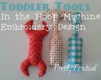 Toddler Tools In the Hoop Machine Embroidery Design
