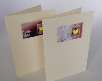 Pack of 2 Blank greeting cards