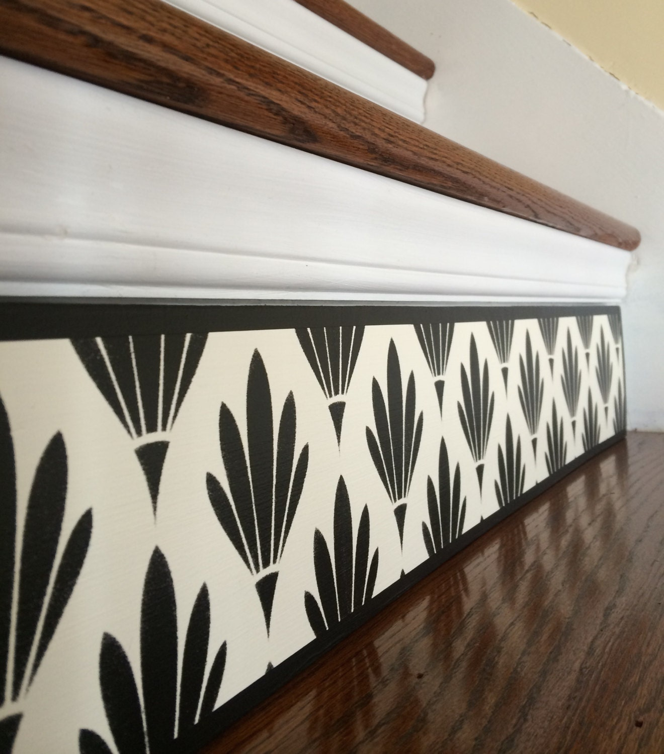 Black White / Art Deco / Alternative To Stair Riser Decals