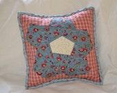 Folk Art Flower Pillow