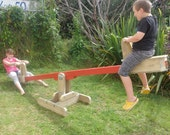 Plans for a seesaw (teeter-totter) with sliding seats   PDF downloadable file