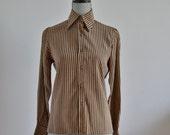 Vintage Valentino Striped secretary Blouse