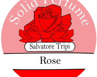 ROSE Handmade Solid Perfume Organic 10gm Round Container by Salvatore Tripi - Italian Recipe