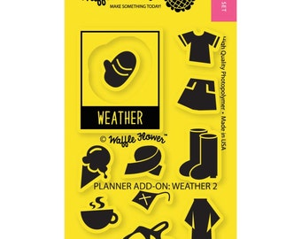 SALE! Planner Stamps - Weather Add on 02